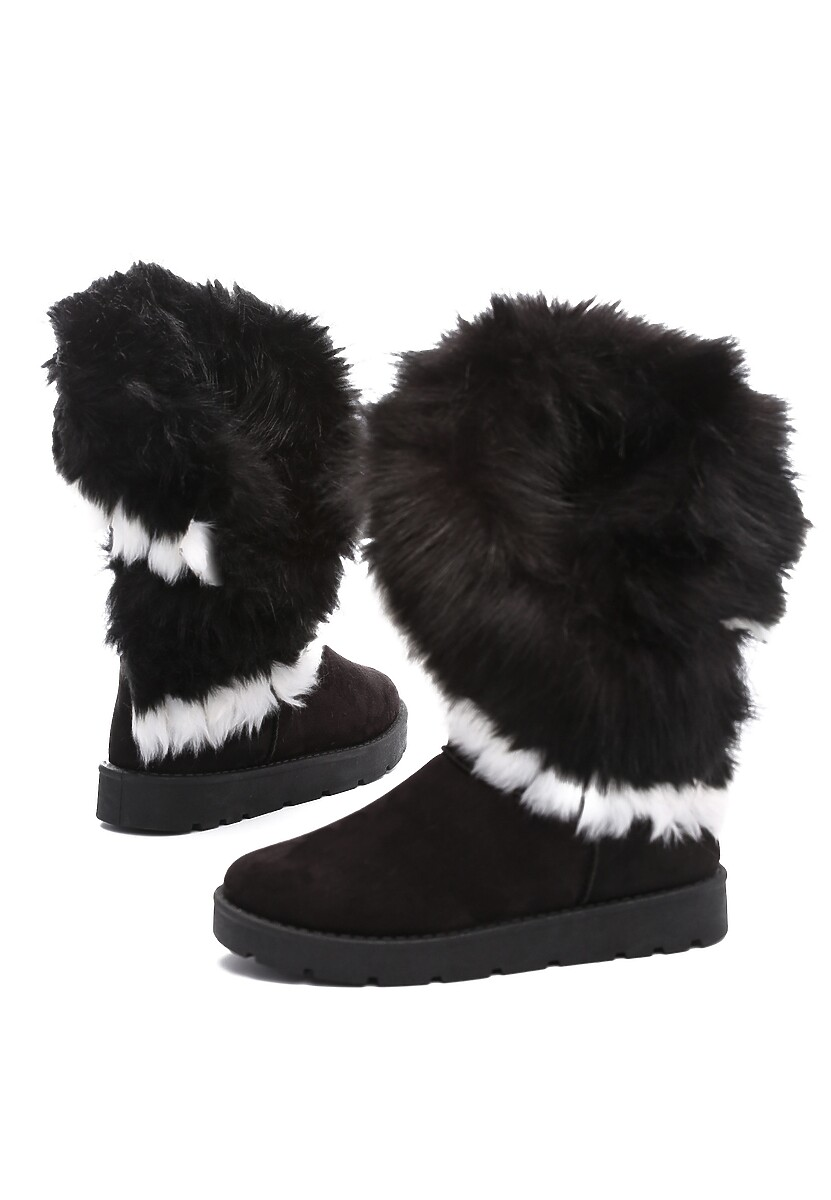 Czarne Śniegowce Modish