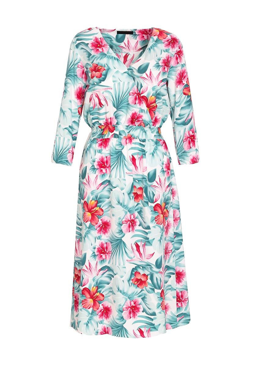 Miętowo-Różowa Sukienka Concentrated