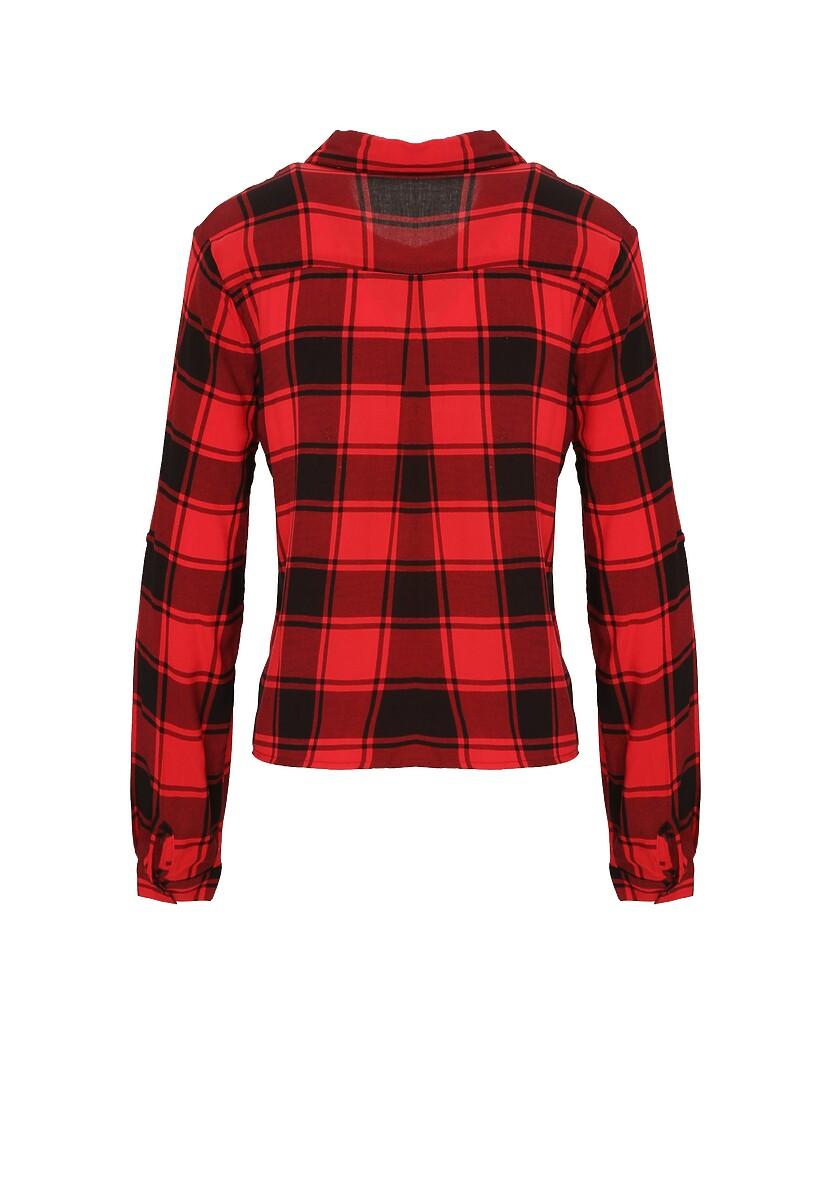Czarno-Czerwona Koszula Tempering