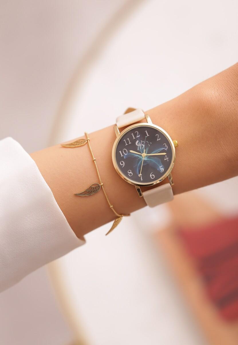 Beżowy Zegarek Emphatically