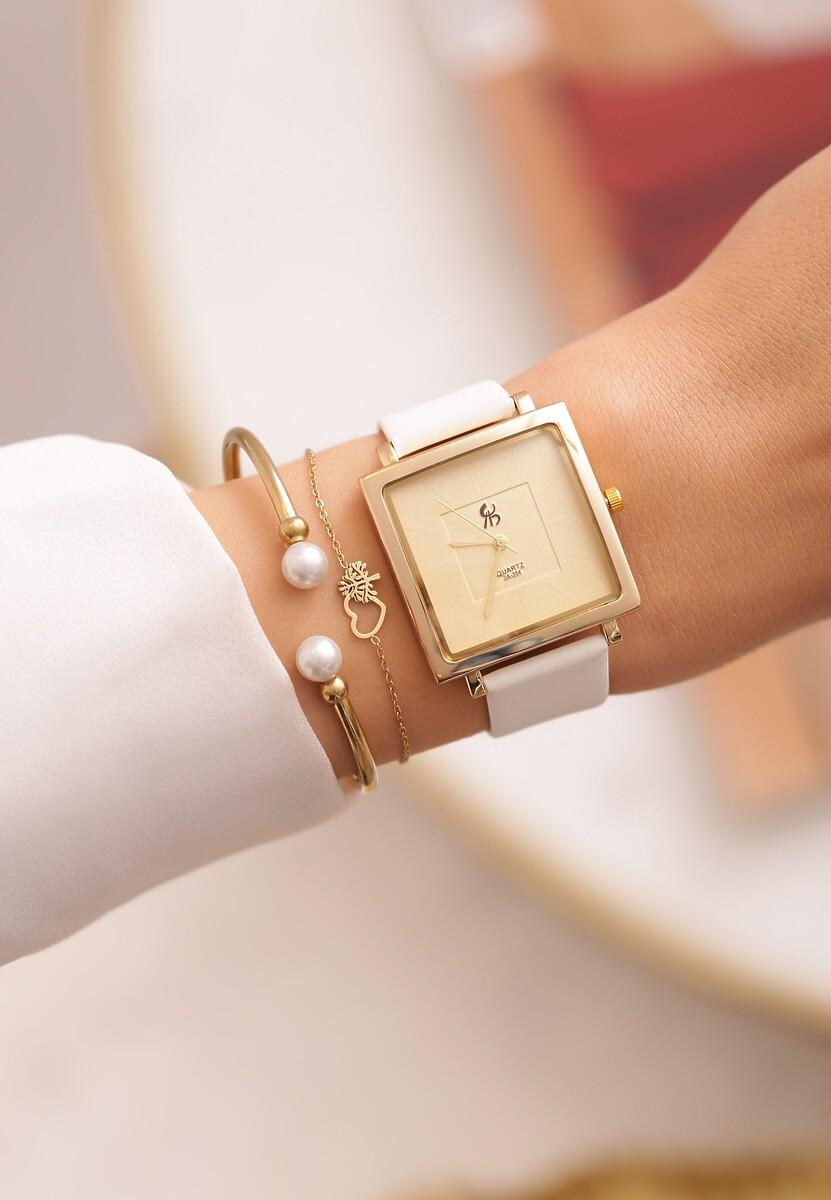Kremowy Zegarek Topology