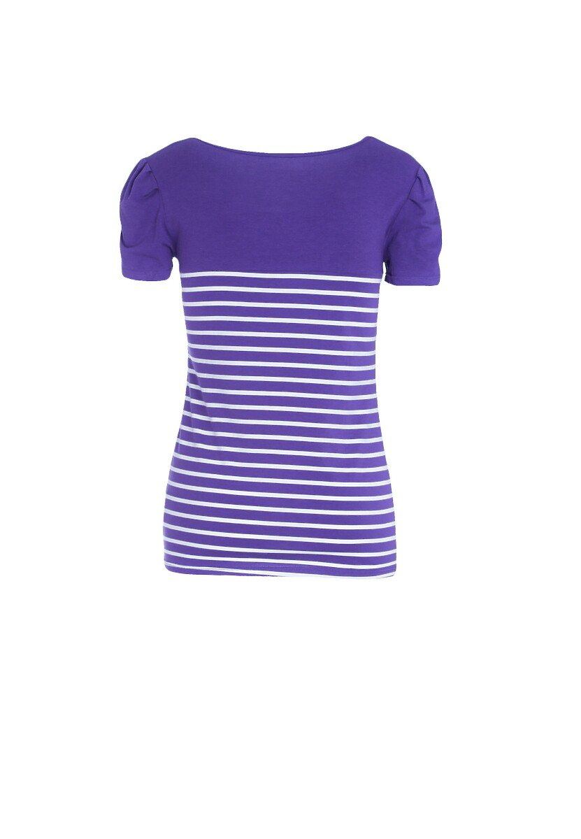 Fioletowa T-shirt Mix