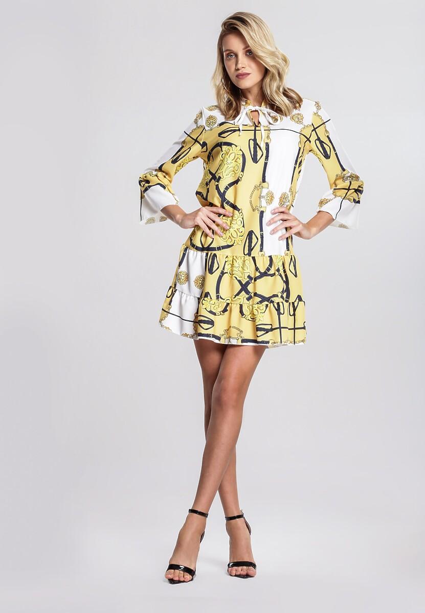 4d76aedb285473 Żółta Sukienka Voltage w Renee.pl