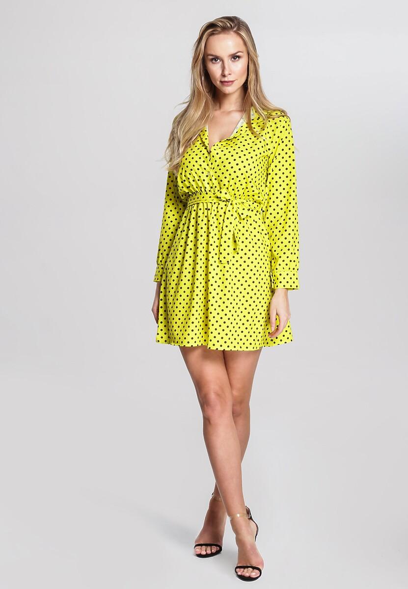 Żółta Sukienka Point