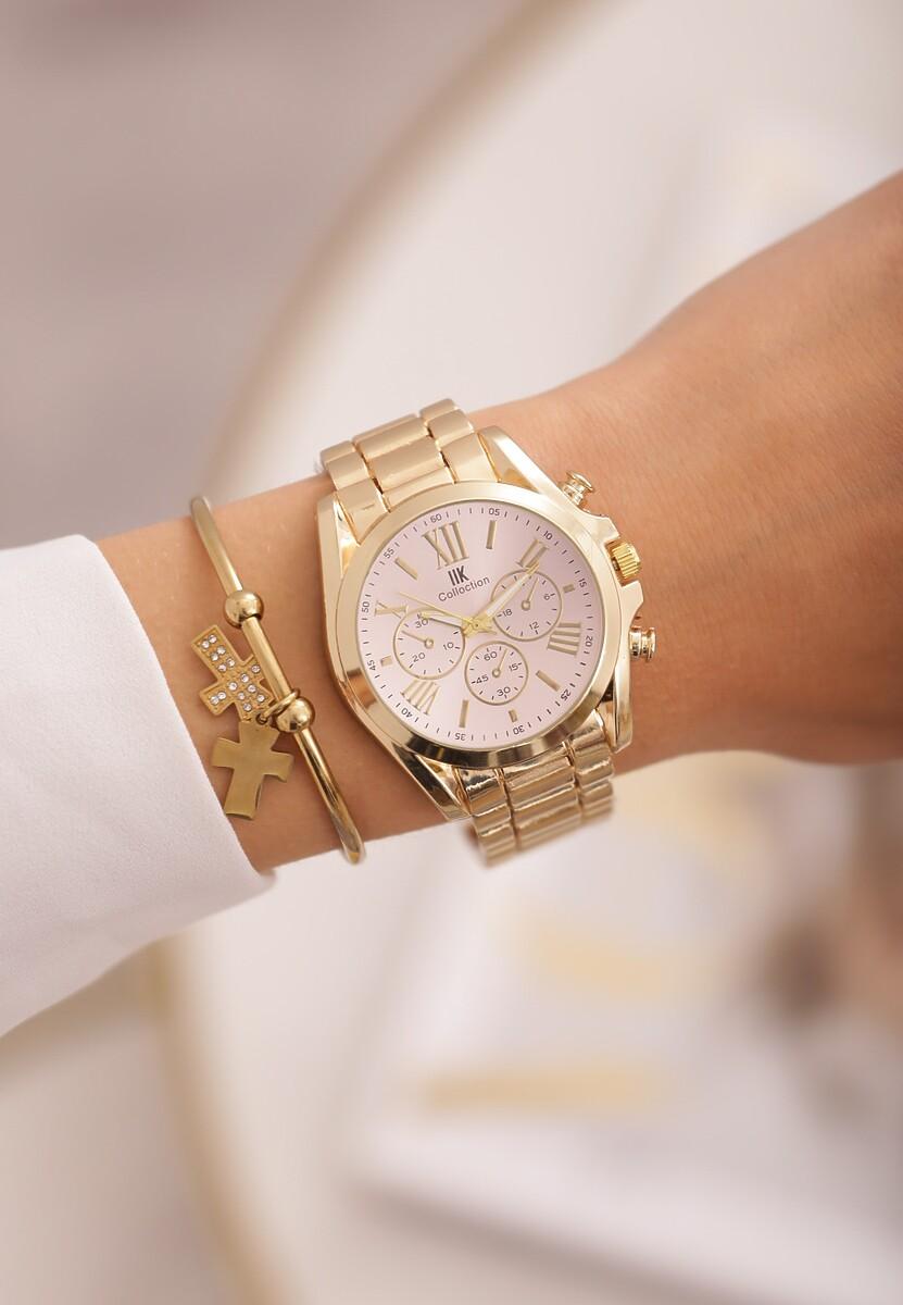 Różowo-Złoty Zegarek Fair-Haired