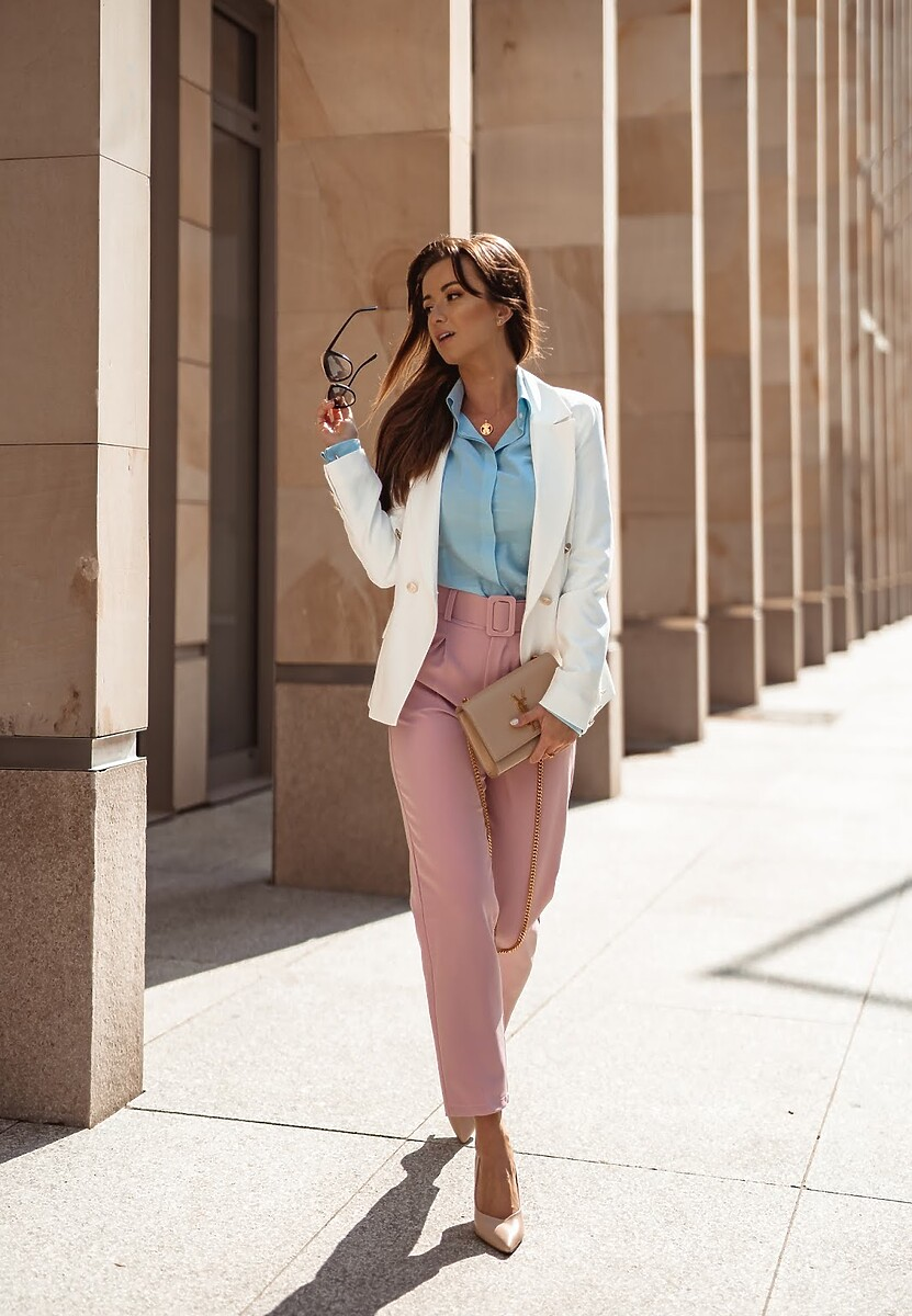 Różowe Spodnie Simplicity