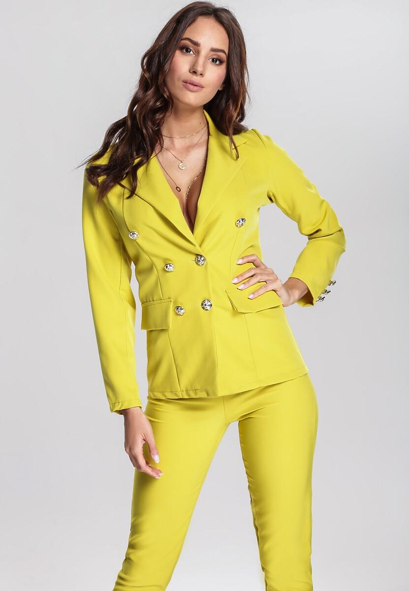 Żółty Garnitur Elegance