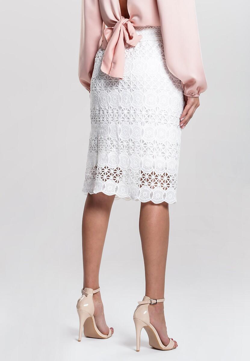 Biała Spódnica Diaphanously