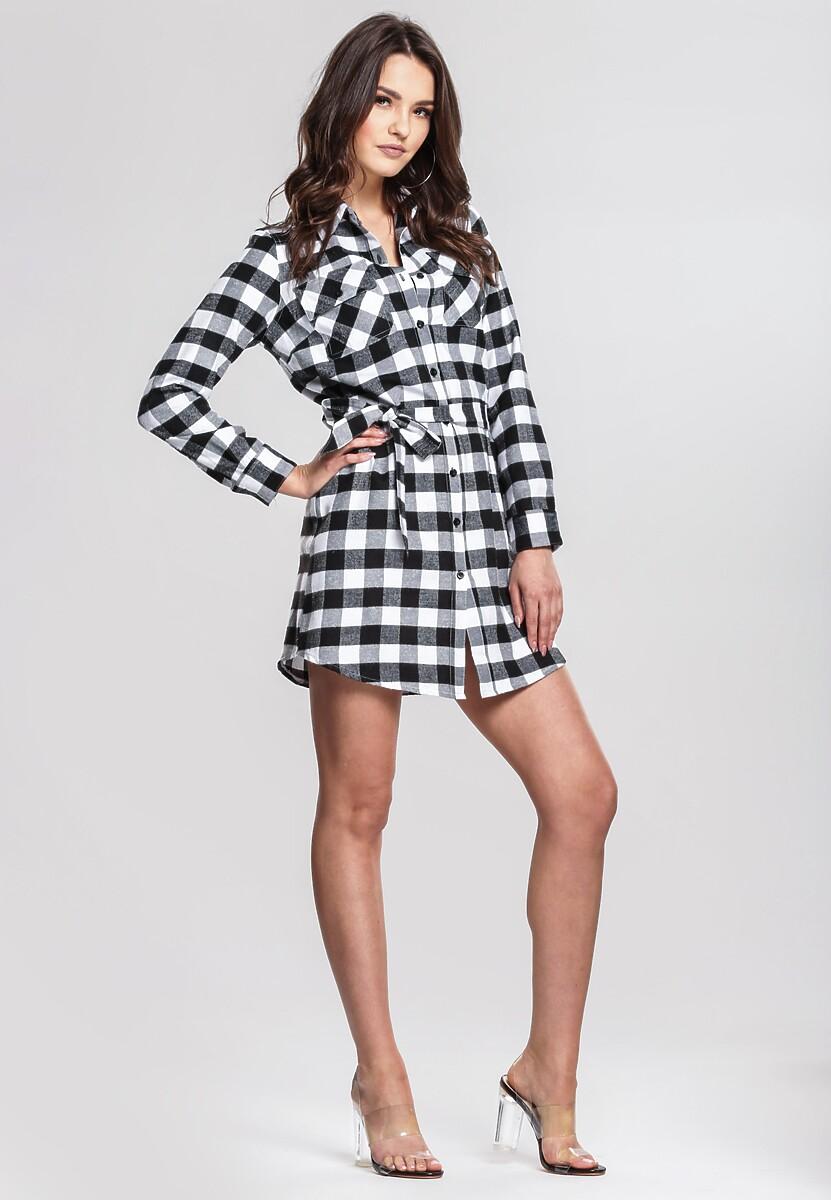 Czarno-biała sukienka dla nastolatków