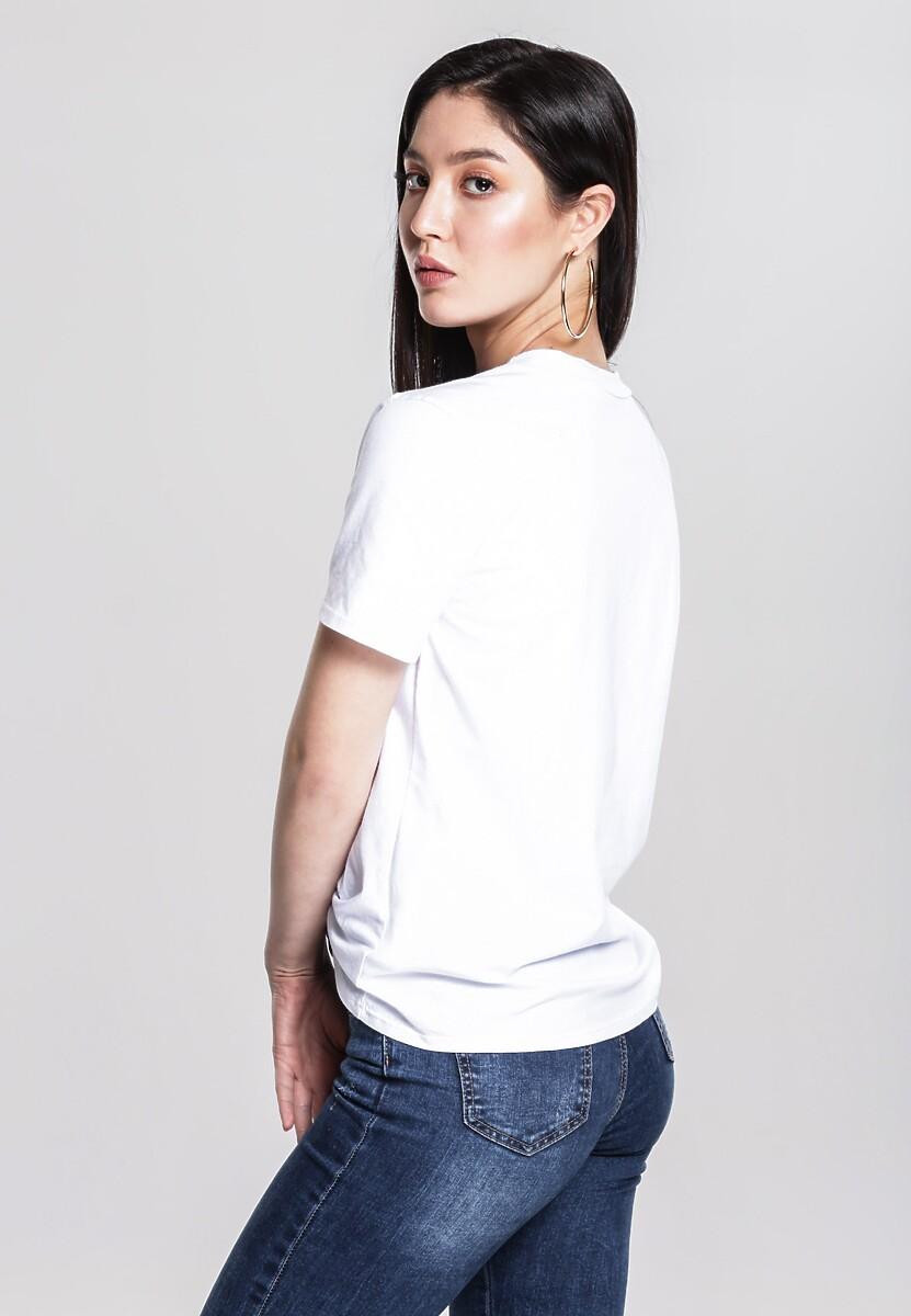 Biały T-shirt Technology