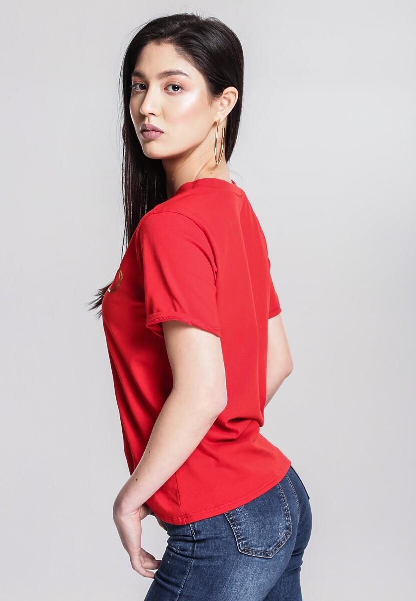 Czerwony T-shirt Technology