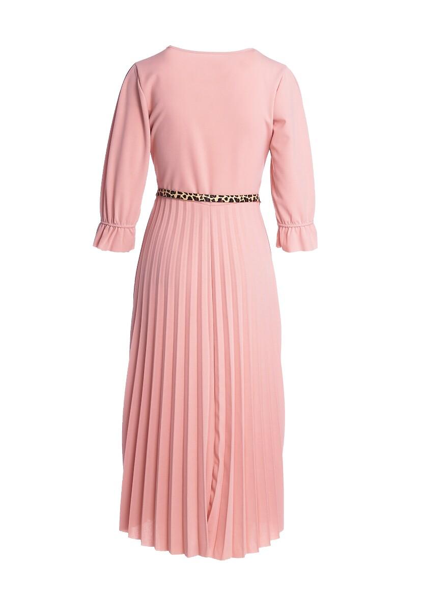 Różowa Sukienka Brainy