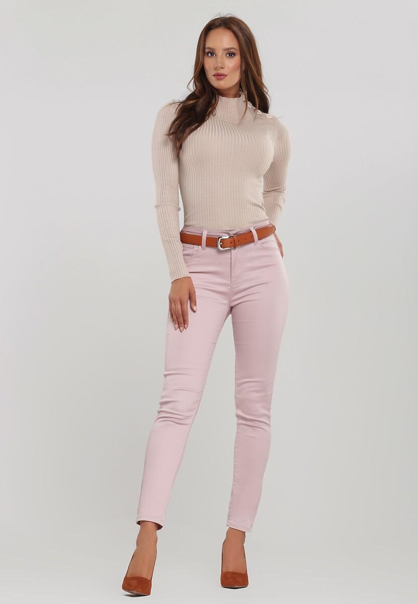 Ciemnoróżowe Spodnie Get On With