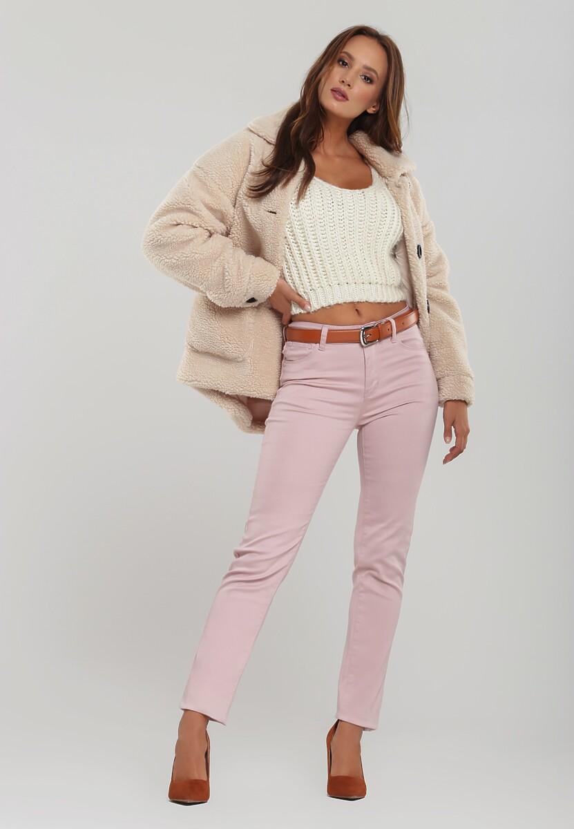 Różowe Spodnie Tejano