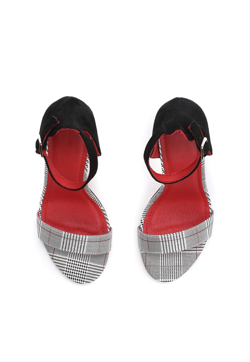 Czarno-Czerwone Sandały Quest