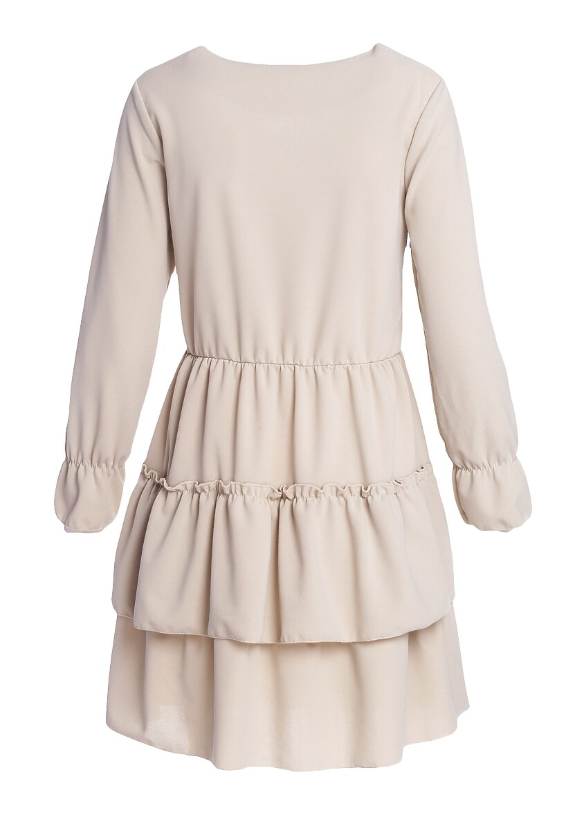 Jasnobeżowa Sukienka Loner