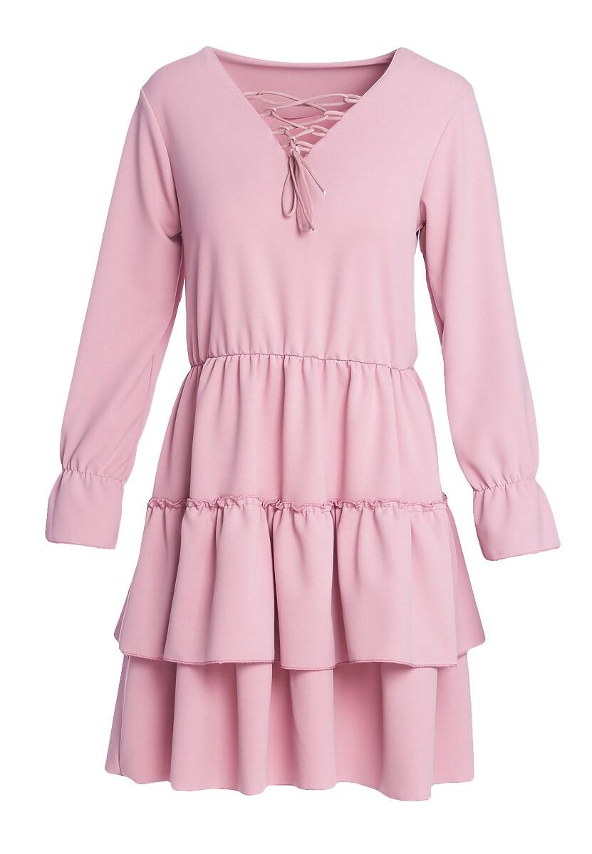 Różowa Sukienka Loner