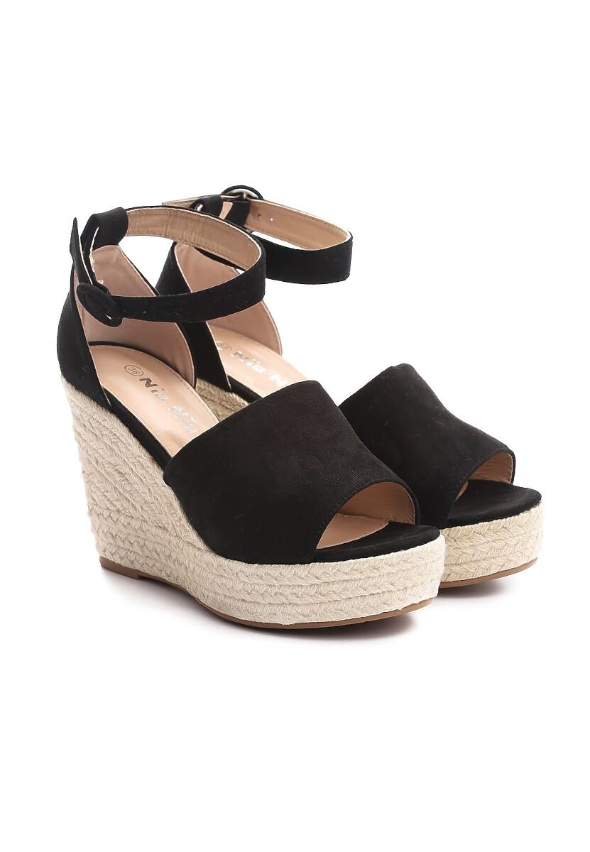 Czarne Sandały Rebiting