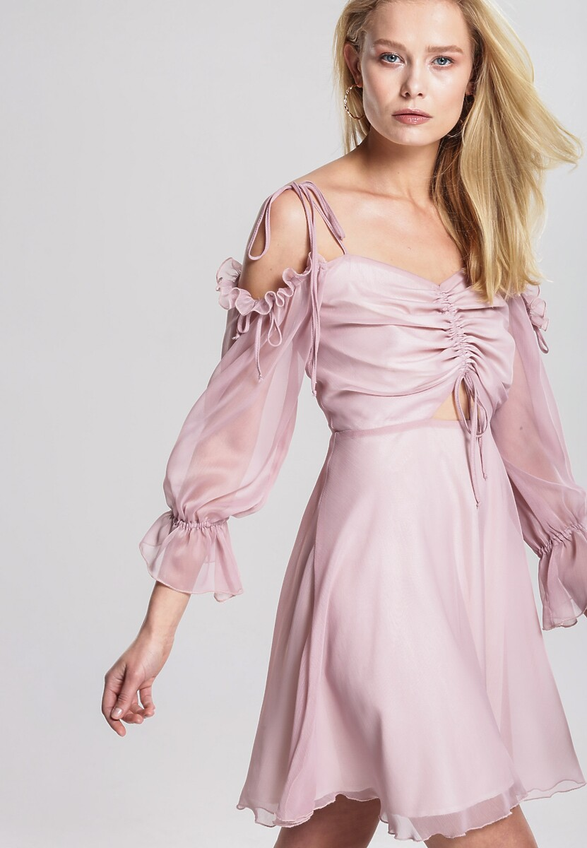Różowa Sukienka Preserved Nature