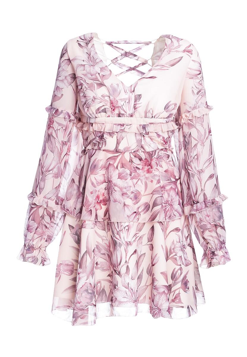 Różowa Sukienka In Flower