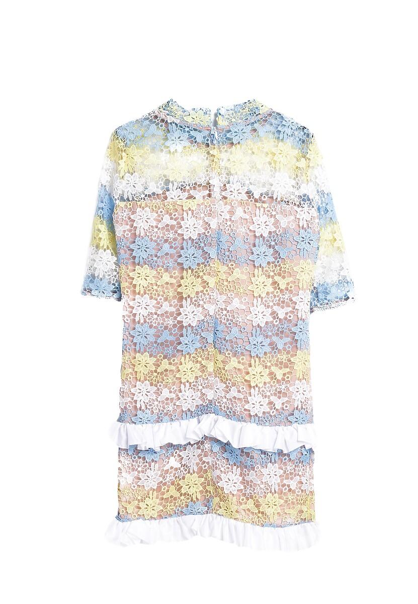 Biało-Niebieska Sukienka In Harmony With Nature
