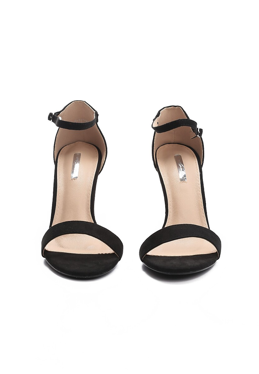Czarne Sandały Quick Witted