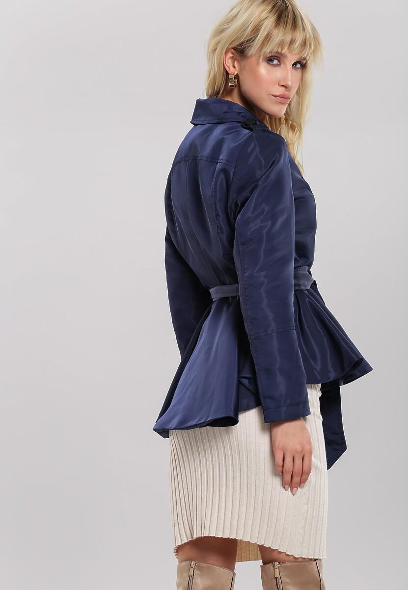 Granatowy Płaszcz Overwritten