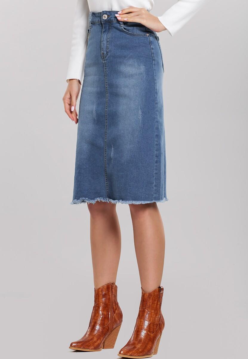 Niebieska Spódnica Overchange