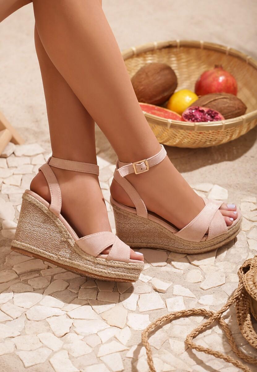 Beżowe Sandały Beguiling