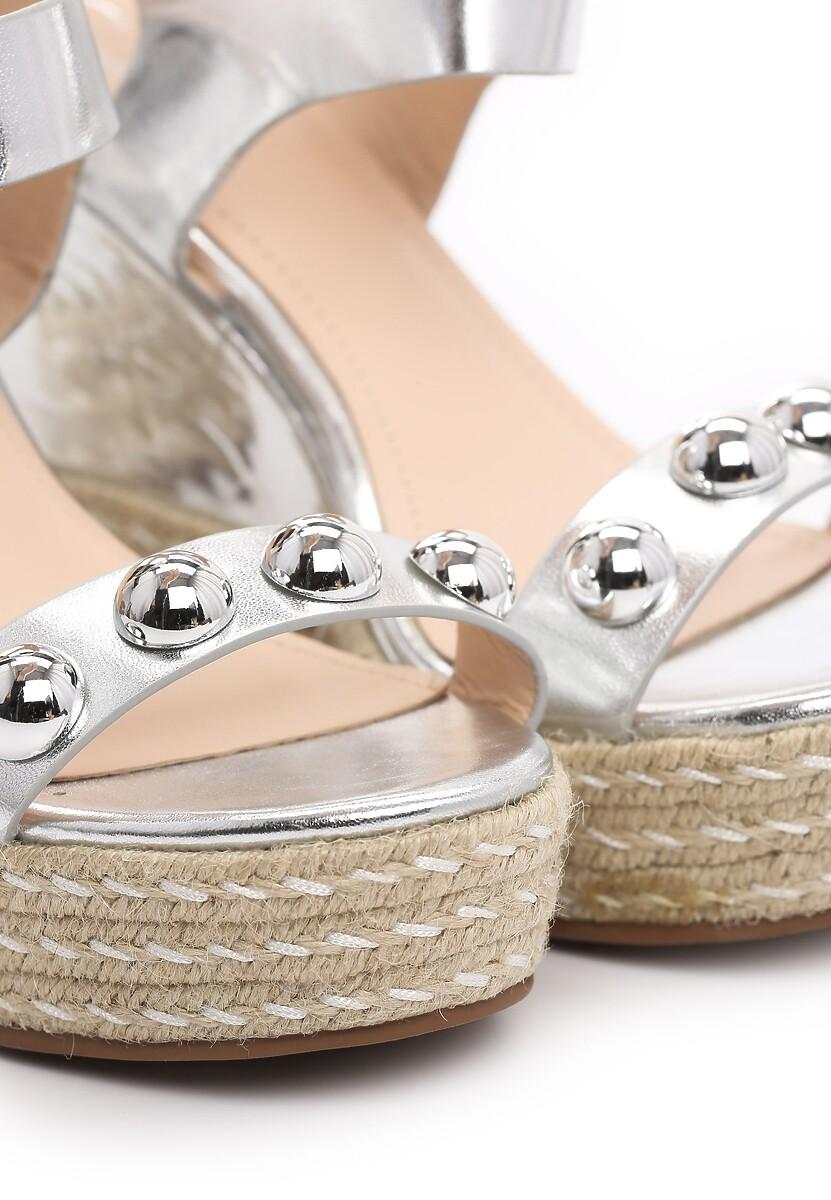 Srebrne Sandały Beauty