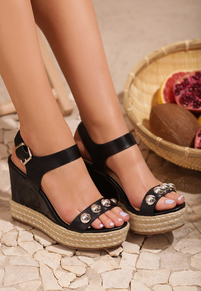 Czarne Sandały Beauty