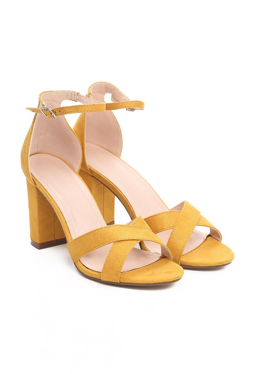 Musztardowe Sandały Immortalize