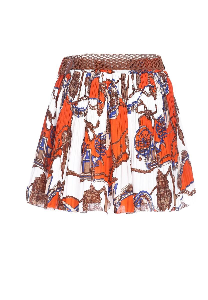 Biało-Pomarańczowa Spódnica Unquiet