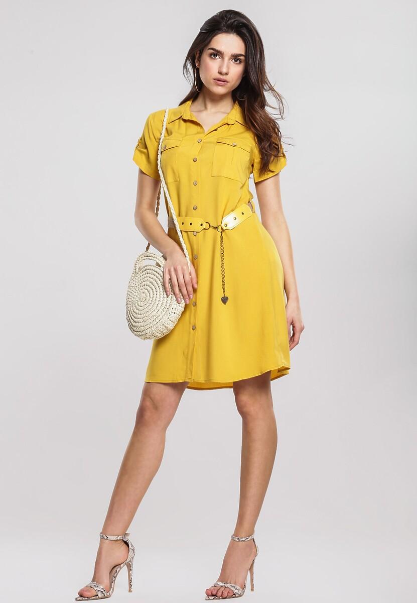 Musztardowa Sukienka Standardized