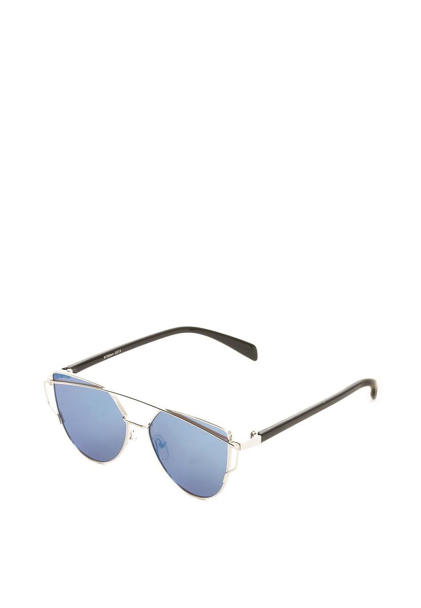 Srebrno-Niebieskie Okulary Lyric Soprano