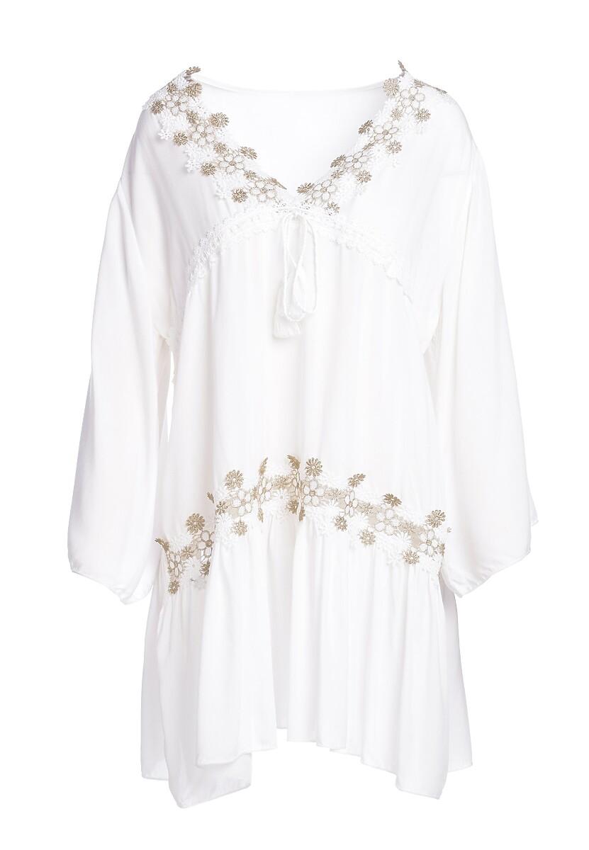 Biała Sukienka Honeyed