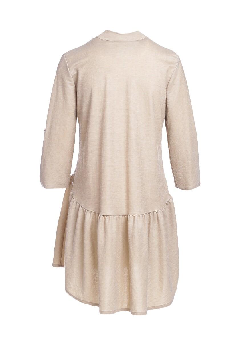 Beżowa Sukienka Spime
