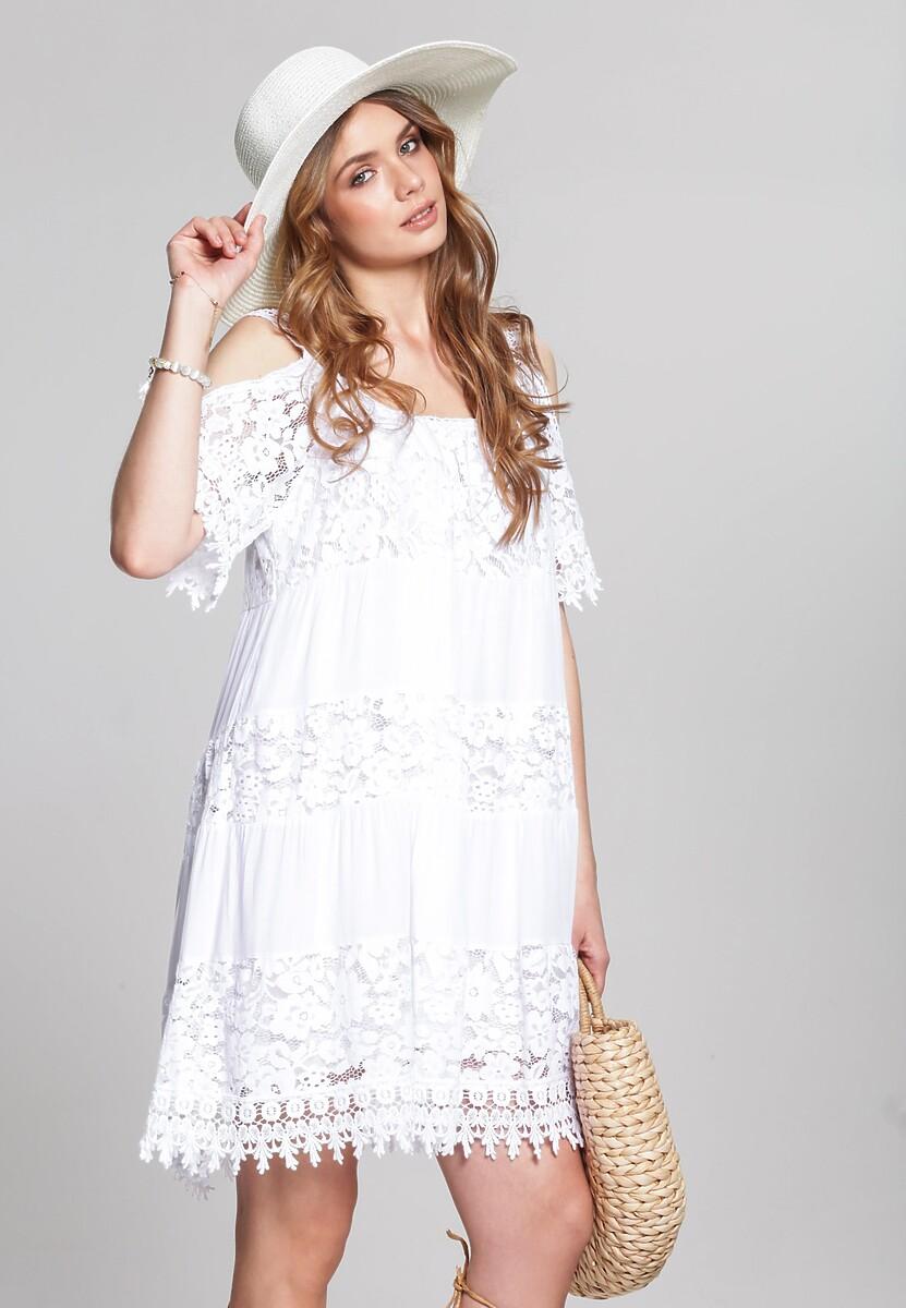 Biała Sukienka Creat