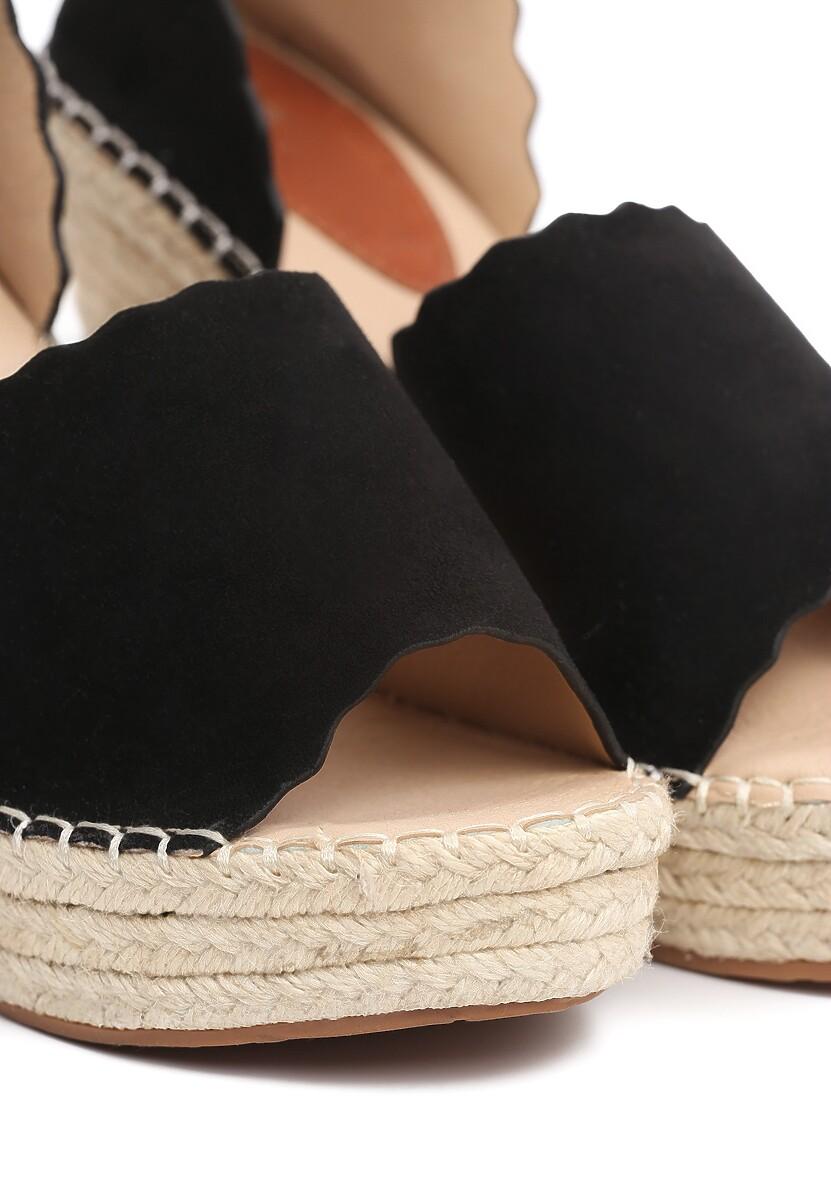Czarne Sandały Ravishment