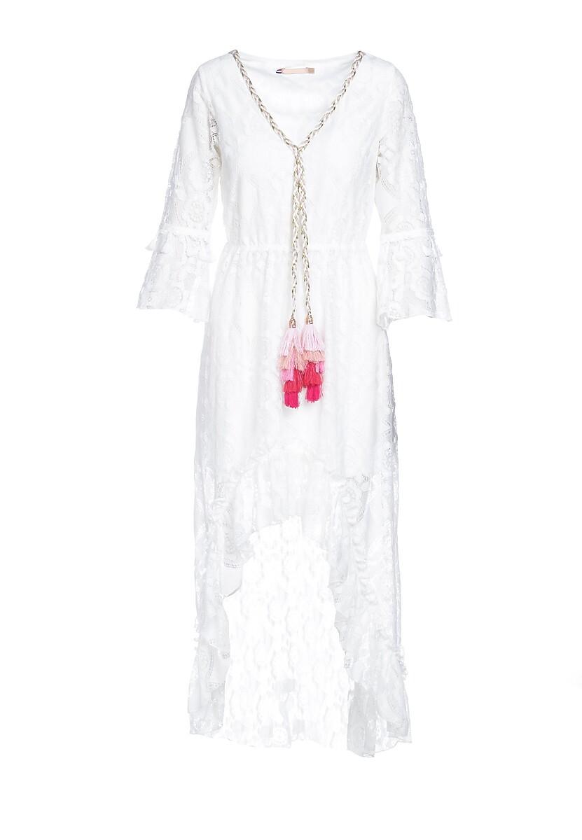 Biała Sukienka Bohemia