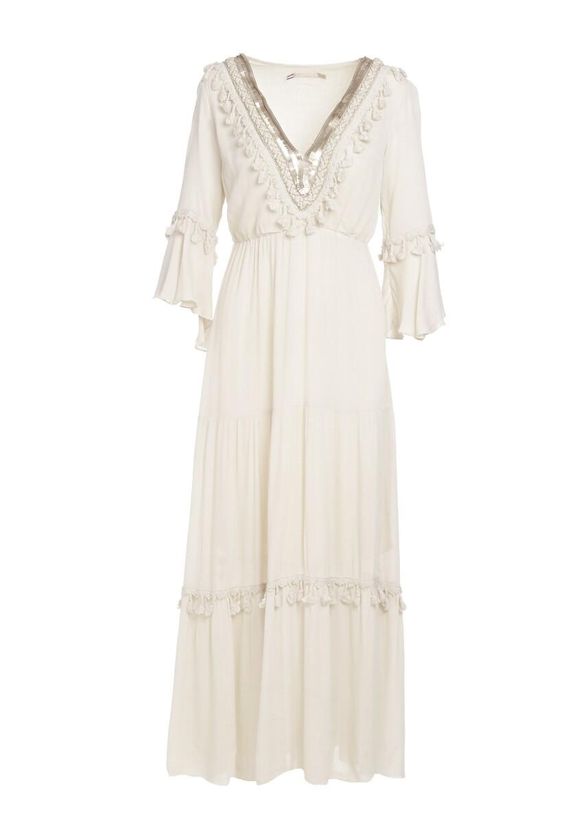 Beżowa Sukienka Set Me Free