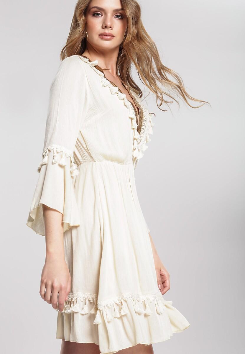 Beżowa Sukienka Doubter