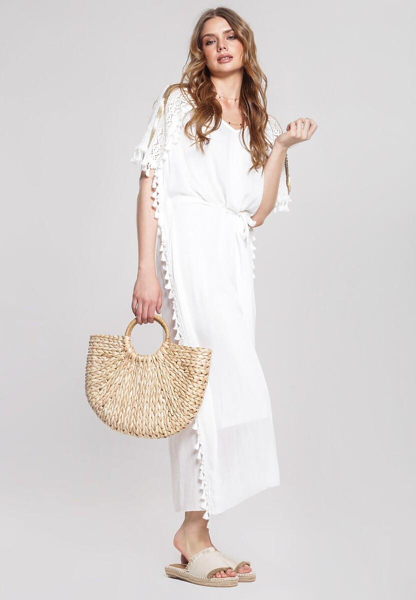Biała Sukienka Satiate