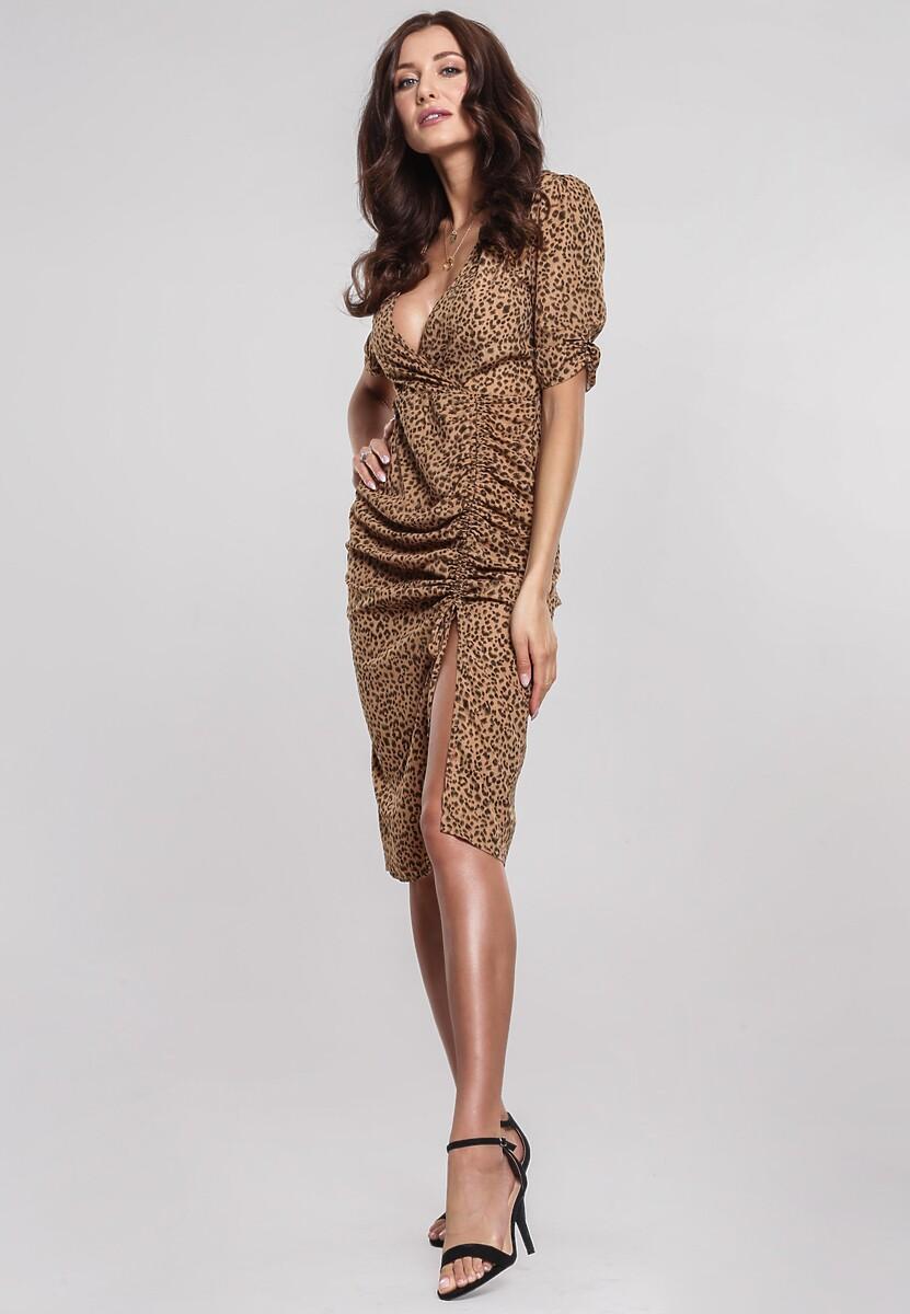 Ciemnobeżowa Sukienka Softcover