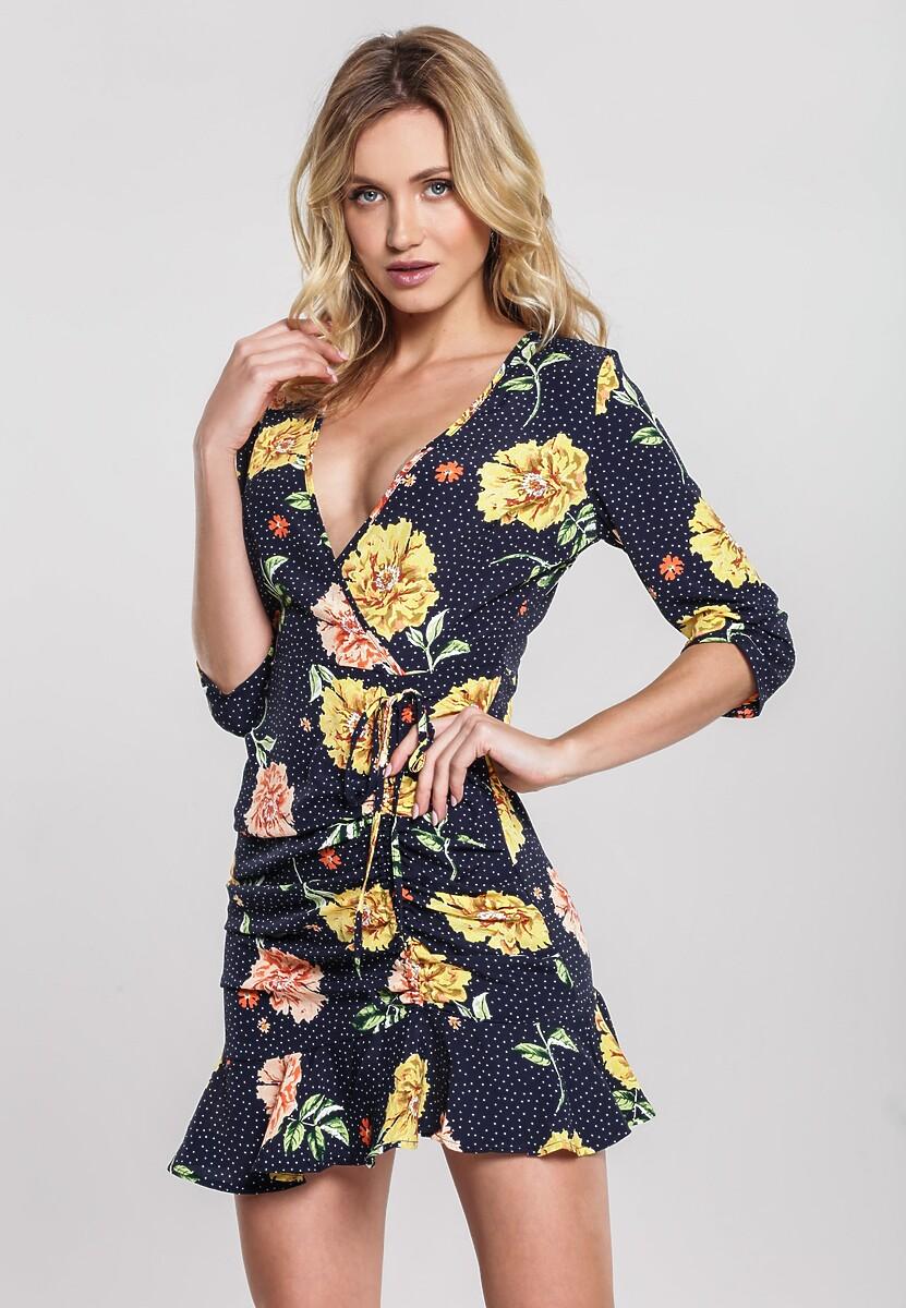 Granatowa Sukienka Periwinkle
