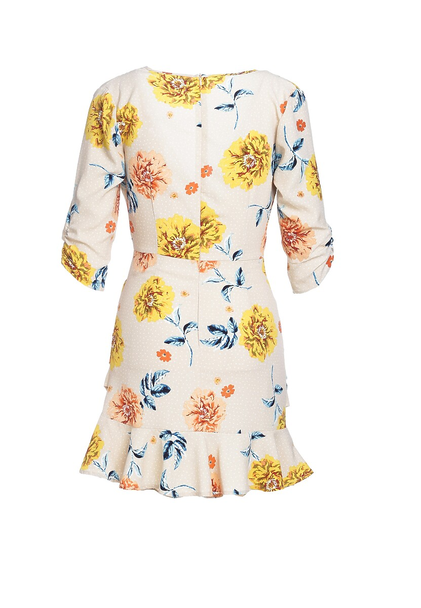 Beżowa Sukienka Periwinkle