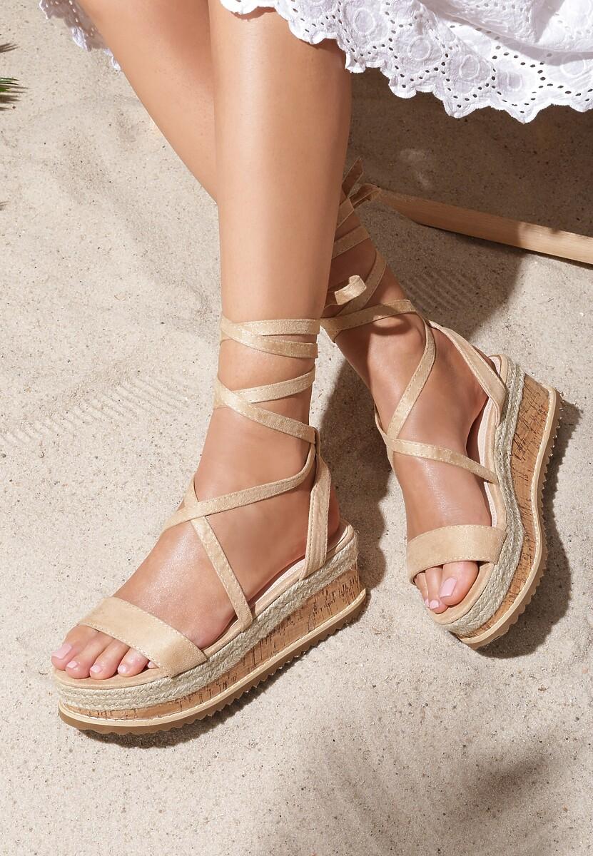 Beżowe Sandały Annoyance