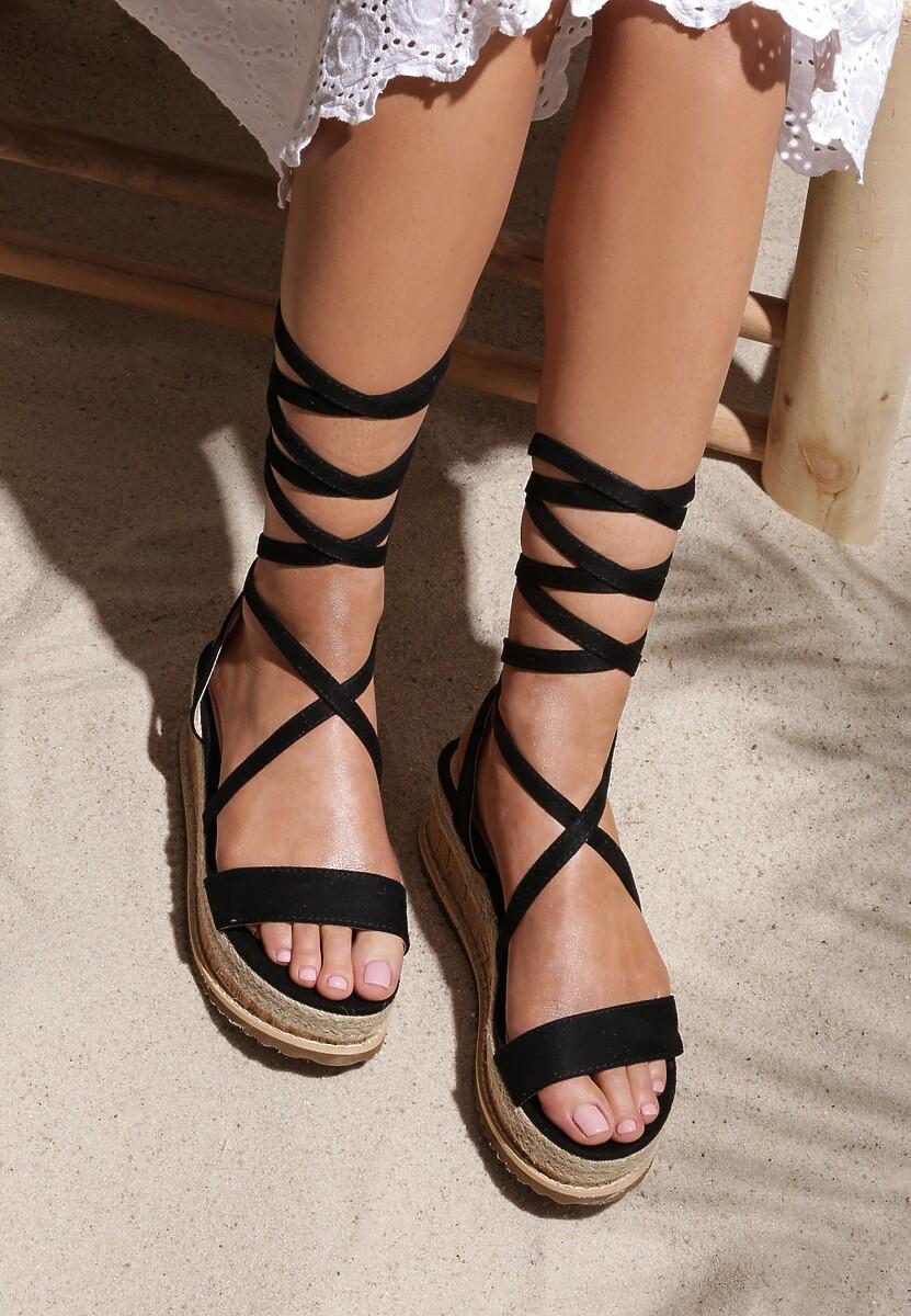 Czarne Sandały Annoyance