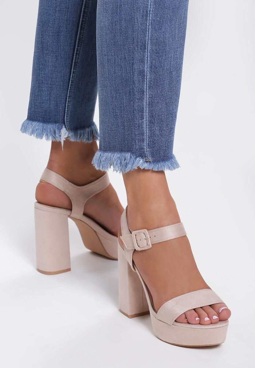 Beżowe Sandały Wonderous