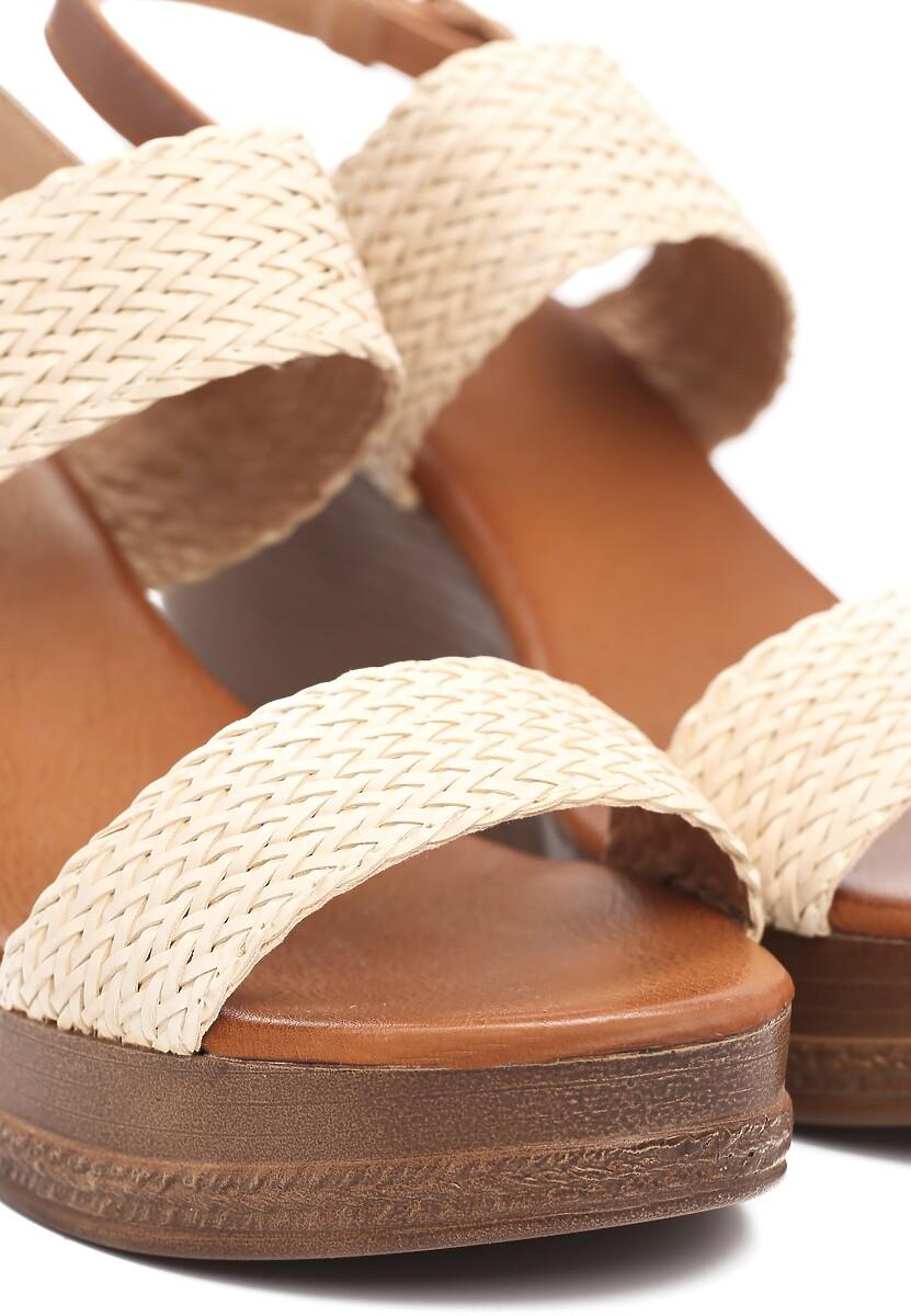 Beżowe Sandały Sleepy